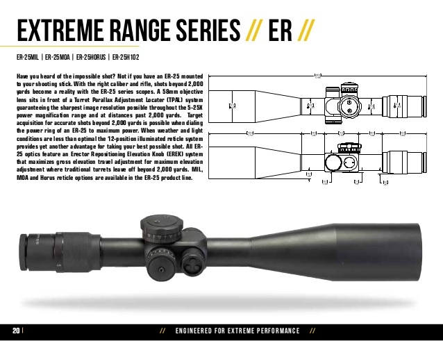 US Optics ER-23 3-23x50