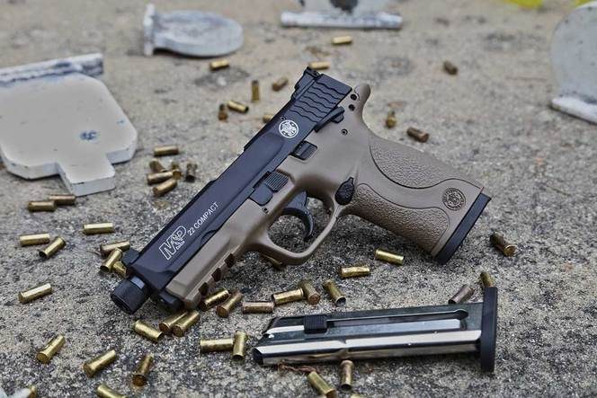 Пистолет Smith & Wesson M&P22 Compact Cerakote-FDE